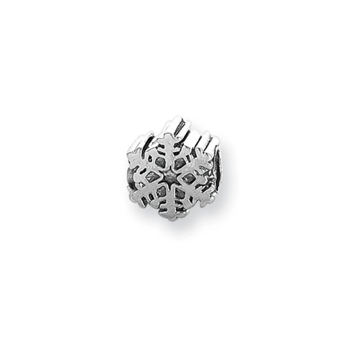 Snowflake Charm in Silver for 3mm Charm Bracelets