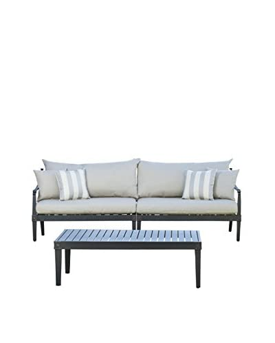 RST Brands Astoria Sofa and Coffee Table Set, Grey