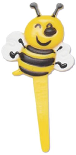Bakery Crafts Bumble Bee Cupcake Picks, 12-Pack