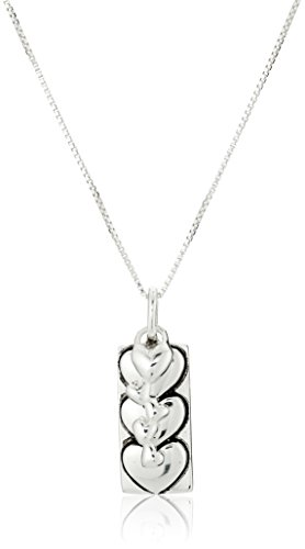 """Sterling Silver """"I Love You More"""" Two-Charm Reversible Necklace, 18"""""""