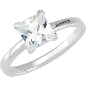 Sterling Silver Stackable CZ Ring
