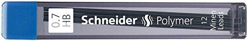 Schneider stylos Hi polymère fine mine 0,7 mm, HB-noir-lot de 12