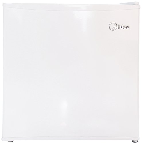 Midea Whs-65Lw1 Compact Single Reversible Door Refrigerator And Freezer, 1.6 Cubic Feet, White