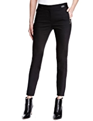 Autograph Faux Leather Trim Trousers