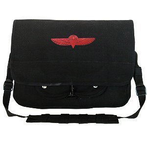 Black - Israeli Paratrooper Shoulder Bag w/Emblem