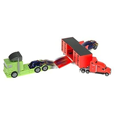 Amazon.com: Micro Machines Stunt Playset: Trailer Truck Trouble