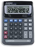 Brand New. Aurora Calculator Desktop Battery/Solar-power 12 Digit 2x3 Key Memory 140x198x46mm Ref DT85V