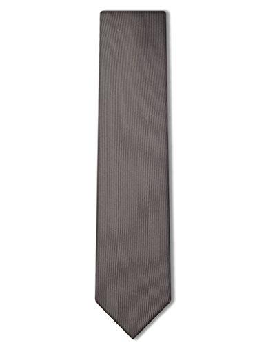 Origin Ties Solid Color 100% Silk Men's Skinny Tie Medium Grey (Skinny Silk Ties For Men compare prices)