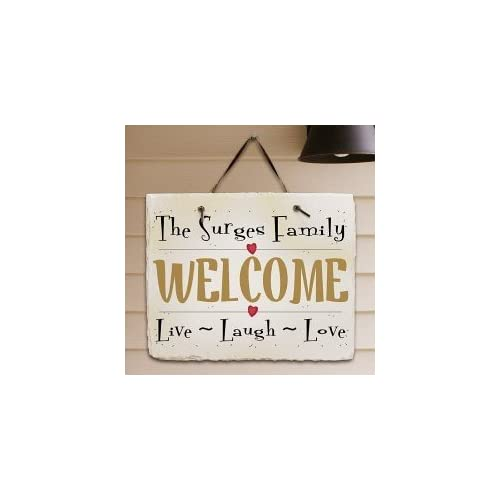 Personalized Live Laugh Love Slate Wall Hanging Plaque