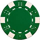 Da Vinci 50 Clay Composite Dice Striped 11.5-Gram Poker Chips (Green)