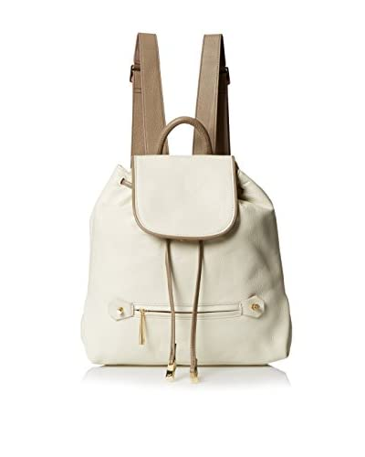 Halston Heritage Women's Solid Backpack, Bone/Ash