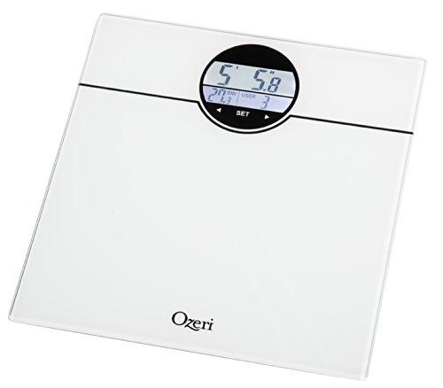 Bmi Bathroom Scale: Ozeri ZB21-W WeightMaster 400 Lbs Digital Bath Scale With