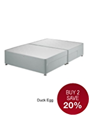Classic Sprung Divan with 2 Small + 2 Large Drawers