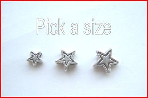 Lyndie's Craft Tibetan Silver Star spacer beads. Pick a size.Jewellery