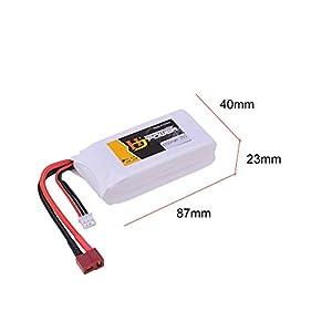HJ 7.4V 4200mah 25C 2S Lipo Battery T Plug High Capacity for Wltoys 12428 12429 1:12 RC Crawler Car