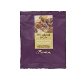 Thorntons No Added Sugar Vanilla Toffee Bag 100G
