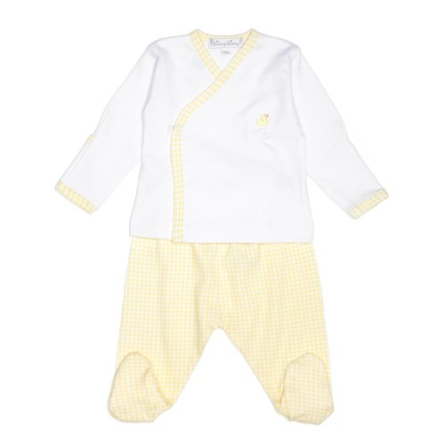 Kissy Kissy Yellow Gingham Pima Cotton Two Piece Outfit - Premature