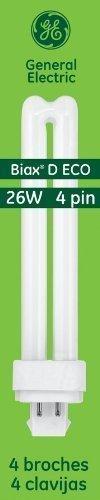 Ge Lighting Energy Smart Cfl 97613 26-Watt, 1800-Lumen Double Biax Light Bulb With G24Q-3 Base, 10-Pack