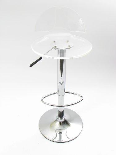 clear acrylic transparent le back bar stool