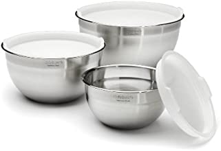 Cuisinart CTG-00-SMB Stainless Steel Mixing Bowls with Lids, Set of 3