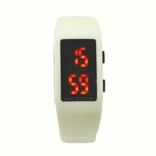 Kano Bak Fashion Unisex Led Kids Girls Lady Christmas Gift Wrist Bracelets Watch White
