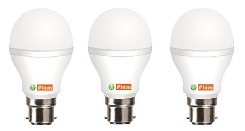 Fiem 7W Cool White LED Bulb (Pack of 3)
