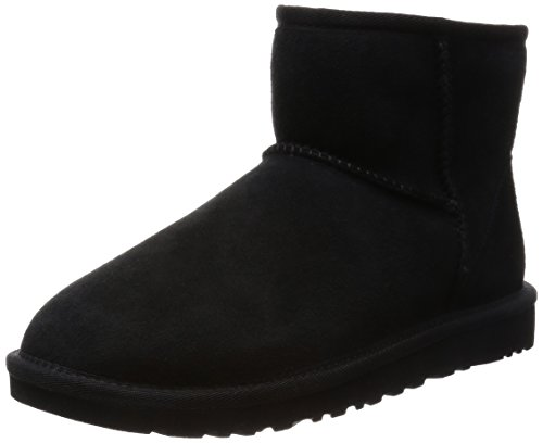UGG Australia Women's Classic Mini Sheepskin Fashion Boot Black 8 M US (Ugg Classic Tall Boots compare prices)
