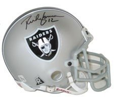 Rich Gannon Autographed Hand Signed Oakland Raiders Authentic Mini Helmets by Riddell by Hall of Fame Memorabilia