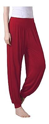 Dancina Women's Yoga Harem Aladdin Pants Super Soft Modal Cotton Spandex Blend
