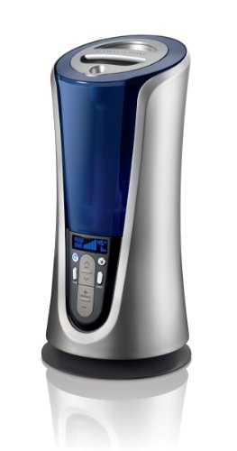 Cheap The Sharper Image EVSI-HD40 Warm and Cool Mist Ultrasonic Tower Humidifier, Silver (EVSI-HD40)