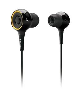 Philips SHE 6000 In-Ear-Kopfhörer mit Virtual Surround Sound (104 dB, 50 mWatt) schwarz