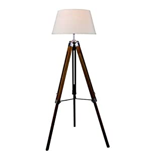 Tripod Floor Lamp Colour: Cream/Ivory by House Additions