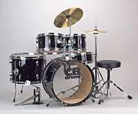 Cb Drums Jrx55 Junior 5-Piece Kit Package (Black)