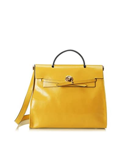 Belle & Bloom Women's Francine Leather Top Handle Bag, Yellow As You See