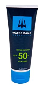 Watermans SPF 50+ Aqua Armor Waterproof Quality Sunscreen (3.0 oz) by Watermans Applied Science