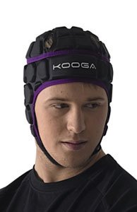Kooga Adults Shadow 2 Rugby Head Guard Black/Purple S