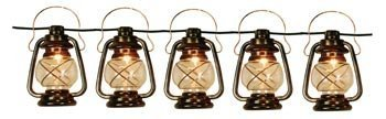 Patio String Lights Oil Lantern Style Indoor