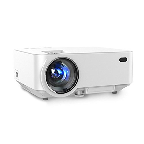 Aero Snail White 1500 Lumens Portable Mini LED Projector Multimedia Home Theater Video Projection With Remote Control/Keystone USB/AV/SD/HDMI/VGA Interface