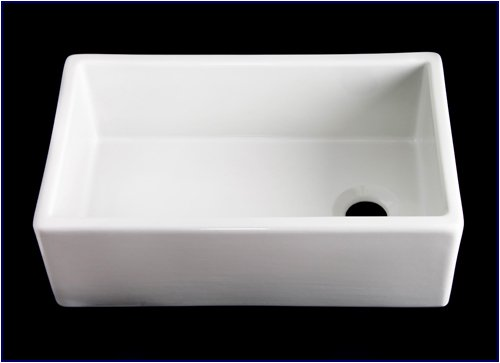 Kitchen Farmhouse Apron Front Sink - White Single 30