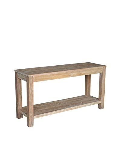 Jeffan Domme Console Table, White Patina