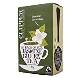 THREE PACKS of Clipper Fairtrade Jasmine Green Tea
