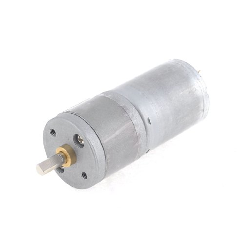 12V 100Rpm Output Speed 4Mm Shaft Dia Dc Gearbox Geared Motor