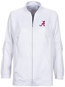 NCAA Alabama Crimson Tide Ladies Donya Jacket, White, Small by Oxford