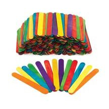 Jumbo Colored Wood Craft Sticks - 500 Pieces