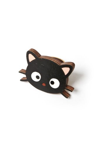 Neivz x Sanrio - women's Flat Laminate Chococat Ring (Black)
