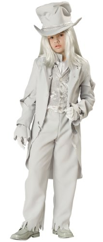 InCharacter Costumes, LLC Boys 8-20 Ghostly Gent Tattered Coat Set, White, Medium