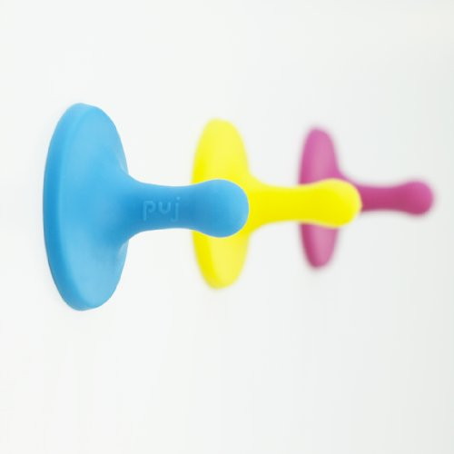Puj Nubs - Clever Grippy Hooks - Cyan, Magenta, Yellow - 1