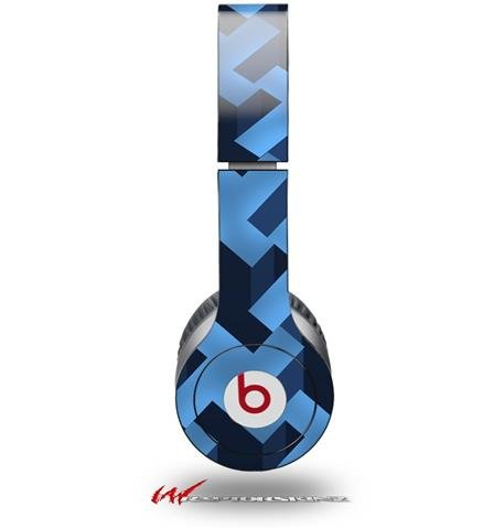 Retro Houndstooth Blue Decal Style Skin (Fits Genuine Beats Solo Hd Headphones - Headphones Not Included)