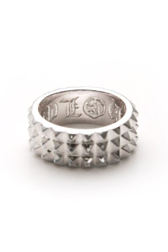 Han Cholo - 3 Row Spike Ring (Silver)