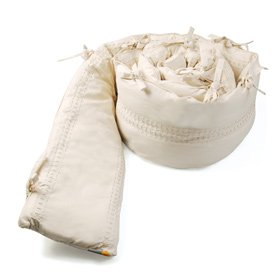 Bloom Alma Mini 100% Organic Cotton Embroidered Bumper Tranquil Collection - Coconut White